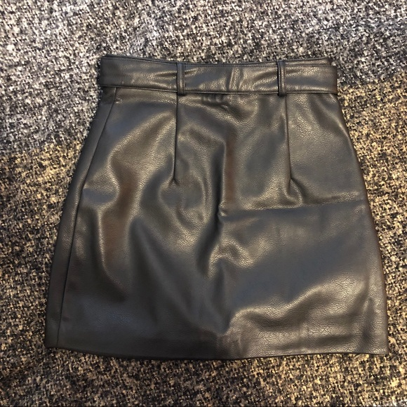 H&M leather skirt.